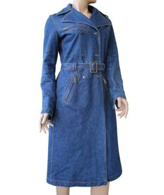 Dolce & Gabbana - Long 100% Cotton Denim Coat
