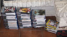 57 Playstation 2 games and  8 Playstation 3 games