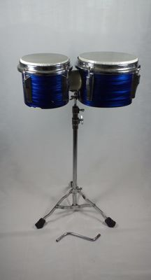 Bongos/Toms with stand, for drum kit.