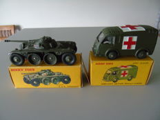 Dinky Toys-FR - Scale 1/48 - EBR Panhard No.815/80a and Ambulance Renault No.80f