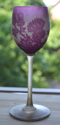 Art Nouveau wine glass