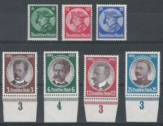 German Reich 1933/1934 - two series - Michel 479/481 and 540/543