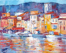 Claude Carvin (1956)   Cassis, le port