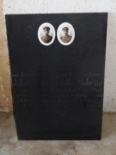 Original memory, brothers who fell in France and Romania in 1916 and 1919