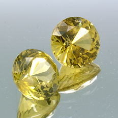 Two Yellow Chrysoberyl - 1.02 ct (0.51 ct + 0.51 ct) – No Reserve Price