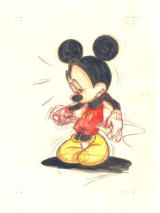 Vendetta, Z. - Original drawing #4 - Mickey Mouse - Moneyless