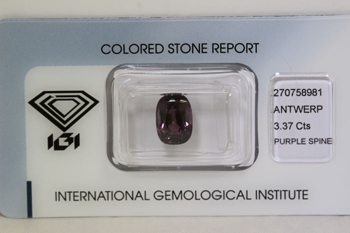 Purple Spinel – 3.37 ct