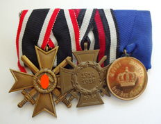 Medal Clasp with 3 Medals