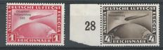 German Empire 1933 - Airmail Graf Zeppelin 'Chicagofahrt' - Michel 496 + 498