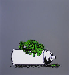 Alex Zanda - Frog on a spray can (Green)