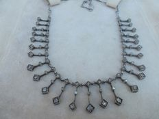 Rose Cut Diamond Necklace NO RESERVE PRICE