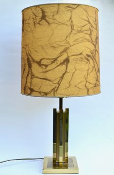 Unknown designer - Vintage brass table lamp in the style of Willy Rizzo