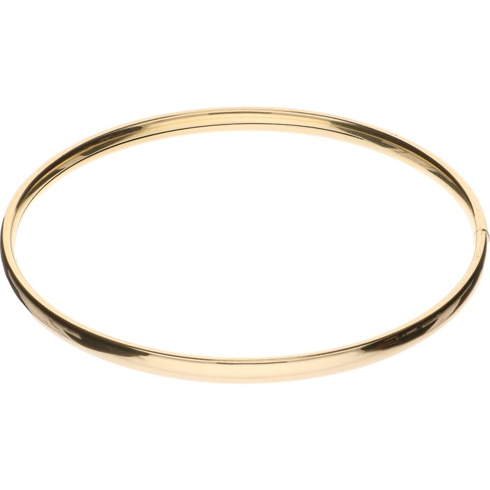 14 kt Yellow gold bangle – Inner size: 6 cm.