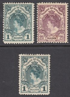 The Netherlands 1898/1899 – Queen Wilhelmina – NVPH 49, 77 and 78