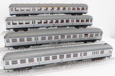 Ade H0 - Four very detailed Silberlings, including end wagon of the DB