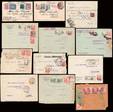 Spain 1936/39 Civil War – Lot of 12 pieces of postal history