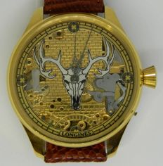 Longines 'Deer skeleton' men's marriage wristwatch circa 1915