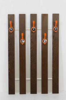 Designer unknown- vintage wall  coat rack