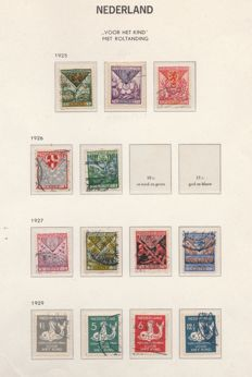 The Netherlands 1925/1933 – Collection with syncopated Children´s stamps – NPVH R71/75 and R78/R101