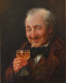 "Unknown - (20th Century European School) -  ""The Wine Drinker"""
