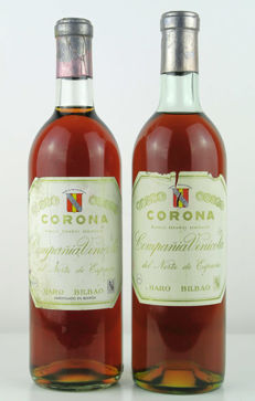 NV Rioja White semi-sweet CVNE Corona 1940's - 2 bottles