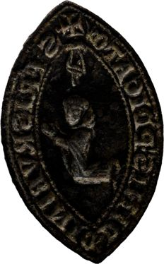Ancient Medieval Stamp Seal- 37 mm