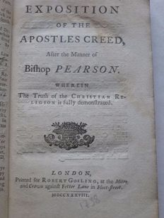Anon [after the manner of Bishop Pearson] - An exposition of the Apostles creed - 1738