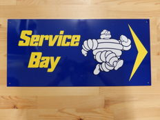 Michelin Service Bay - Vintage Original Metal Garage Sign - Approx 57 cm x 26.5 cm