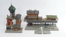 "Kibri/Faller Scenery H0 - incl 39504 - Complete Station ""Langenthal"" with outbuildings, platform, signal box and water tower some with lighting"