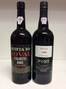 Quinta do Noval: 1982 Colheita Port - bottled in 1997 & 1999 Silval Vintage Port - 2 bottles (0,75l)