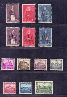 Belgium 1930 – Castles and 2 series with 3 kings – OBP 302 t/m 314