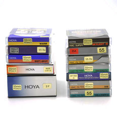 12 different Hoya filters 55 mm - new (1660)