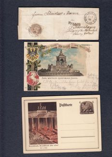 German Reich, 1885-1936 – small batch of letters and cards