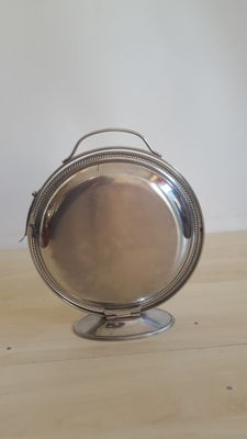 Closable appetizer tray in stainless steel from the 1960s