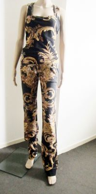 Just Cavalli design magnificent top and trousers with a gold edge.