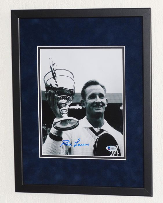 Rod Laver original signed Photo - Premium Framed + Certificate of Authenticity
