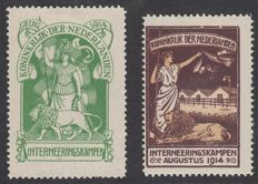 Netherlands 1916 – Internment camp stamps – NVPH IN1/IN2