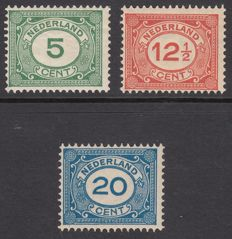 "The Netherlands 1921 – Number, type ""Vürtheim"" – NVPH 107/109"