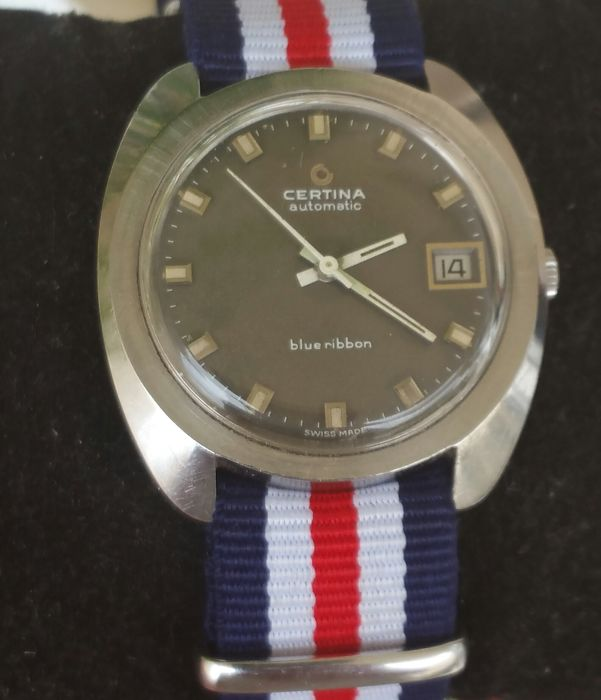 Certina Vintage Automatic — 25-651 — blueribbon — steel