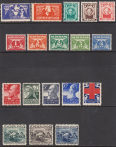 The Netherlands 1923/1930 – Five series – NVPH 134/135, 141/143, 144/148, 203/207 and 229/231