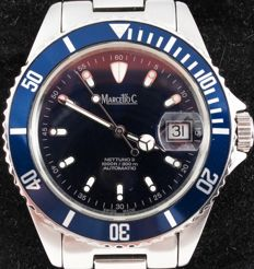 Marcello C. Nettuno 3 Blue  --  Wristwatch  --  Modern