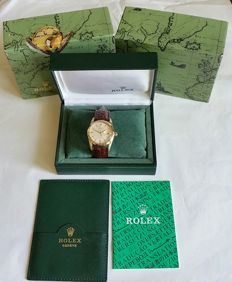 Rolex Oyster Date Precision 6694 GF from the 1950s with Rolex box