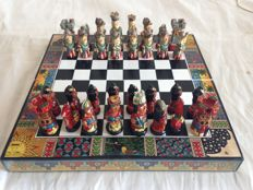 Inca chess set all handcrafted