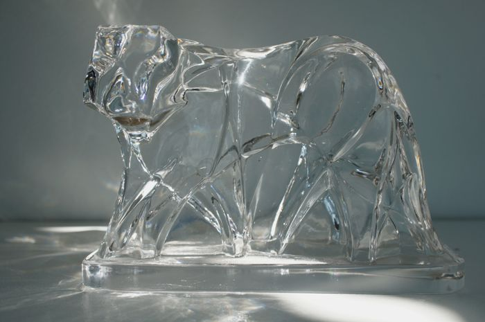 Georges Chevalier for Baccarat - Crystal tiger.