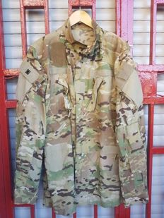 U.S Air Force Coat Aircrew Combat  24th Air Force Texas LARGE SHORT MULTICAM ACU