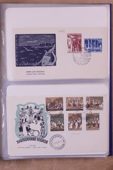 European Countries 1955/1981 - Collection FDCs, covers and various others in 7 albums.