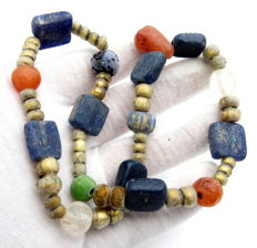Viking Period  Necklace with Coloured Glass Beads - 340 mm