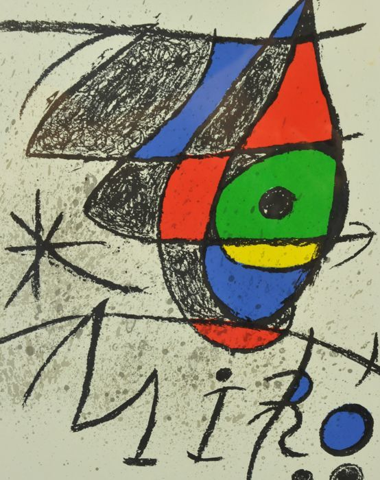 Joan Miró  - Two lithographs from Peintures, gouaches, dessins