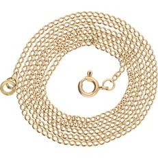 18 kt yellow gold, curb link necklace – length: 57.9 cm
