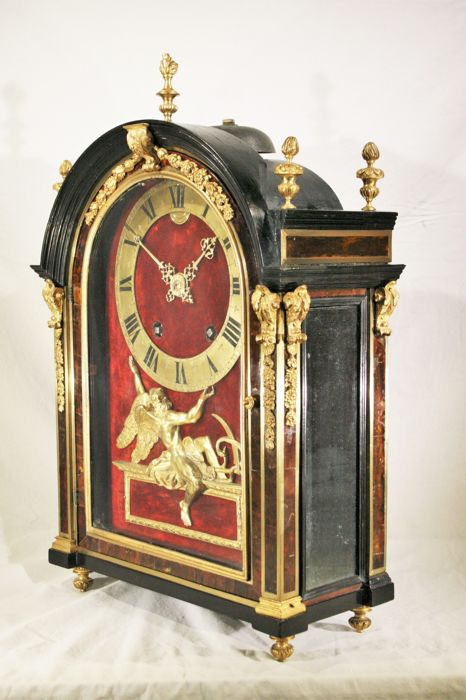 louis xiv pendulum clock signed panier paris catawiki. Black Bedroom Furniture Sets. Home Design Ideas